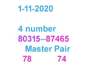 Thai lottery game 4 digit fix