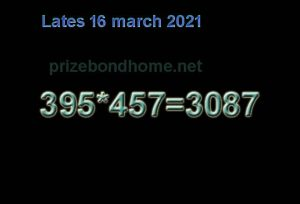 Latest  Thai lottery game 3up 16 march 2021