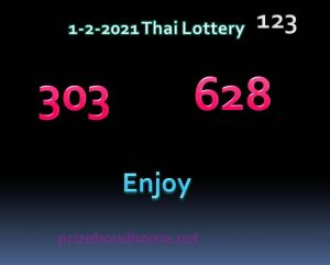 Latest Thailand lottery 123 Paper February 2021