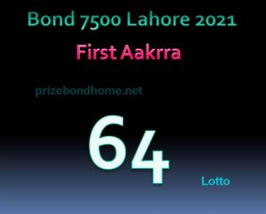 prize bond guess paper latest Bond 7500 Lahore february 2021