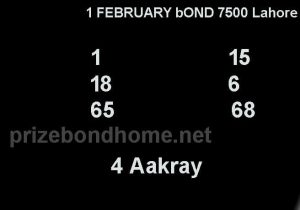 prize bond gogi guess paper 1 february 2021 bond 7500