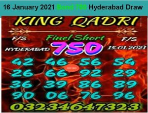 King prize bond guess paper 15 january 2021 latest 750 Hyderabad