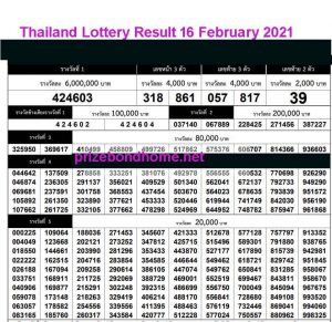 latest thailand government lottery result