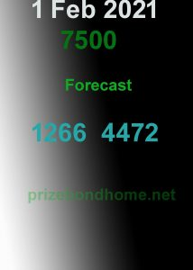 king prize bond guess papers bond 7500 Lahore 2021
